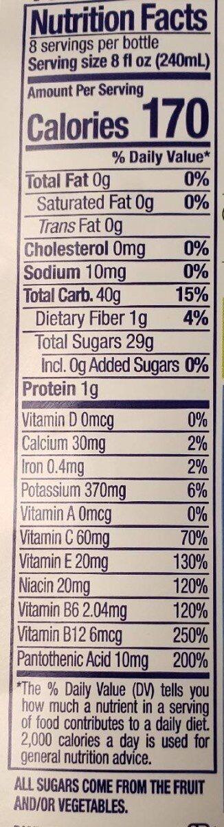 Blue machine juice smoothie - Nutrition facts - en
