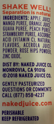 Boosted Power-C Machine 100% Juice Smoothie - Ingredients