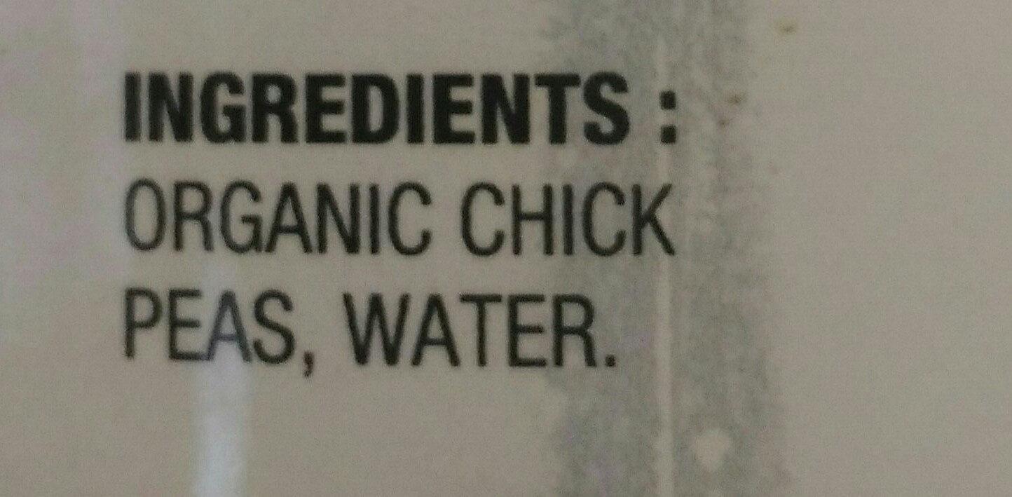 pois chiches biologiques - Ingrédients