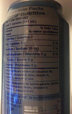 Nestea Zéro sucre - Nutrition facts
