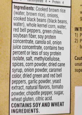 black bean chipolte burger - Ingredients