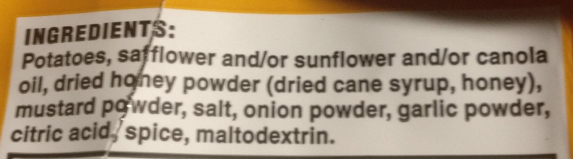 Kettle, potato chips, honey dijon - Ingredients - en