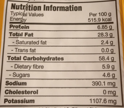 Kettle, potato chips, honey dijon - Nutrition facts - en