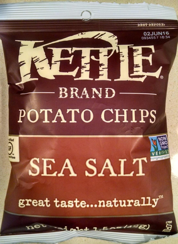 Kettle Brand Potato Chips - Sea Salt - Product