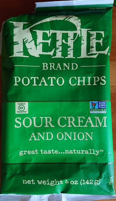 Kettle brand, potato chips, sour cream and onion - Product - en