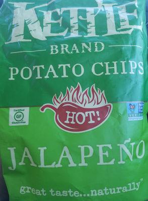 Kettle brand, potato chips, hot jalapeno - Product - en