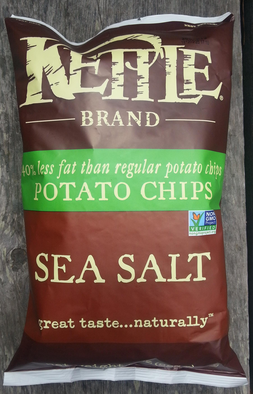 Kettle brand, potato chips, sea salt - Product - en