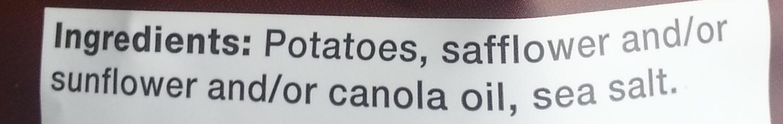 Kettle brand, potato chips, sea salt - Ingredients - en
