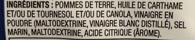 Croustilles Sel et Vinaigre - Ingredients