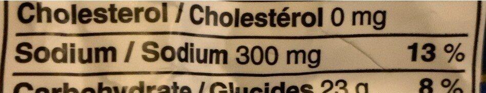 Croustilles sel et vinaigre - Nutrition facts - en