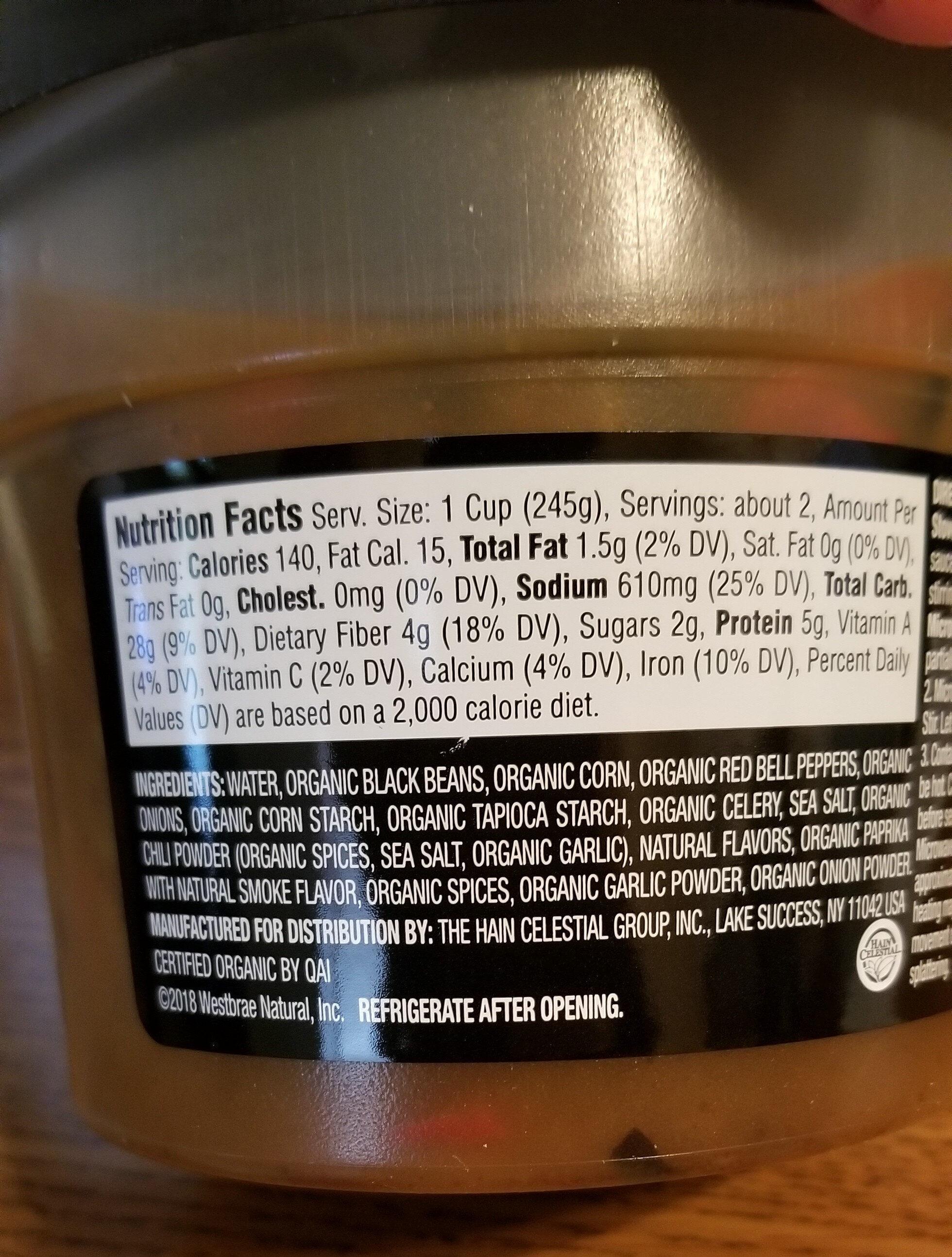 black bean chili - Ingredients