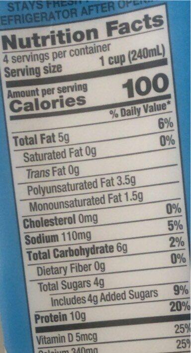 Enriched original organic soymilk - Nutrition facts - en