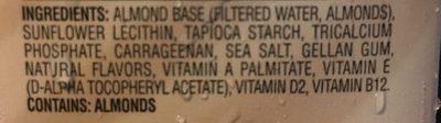Almond milk - Ingrédients