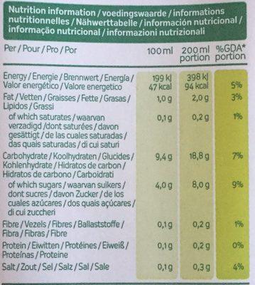 Lait de riz - Nutrition facts - en