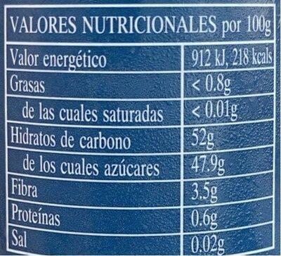 St dalfour fruit spread black raspberry - Nutrition facts - en