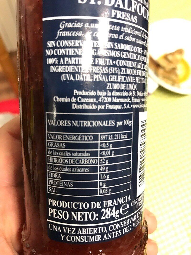 Confiture (fraise) - Nutrition facts