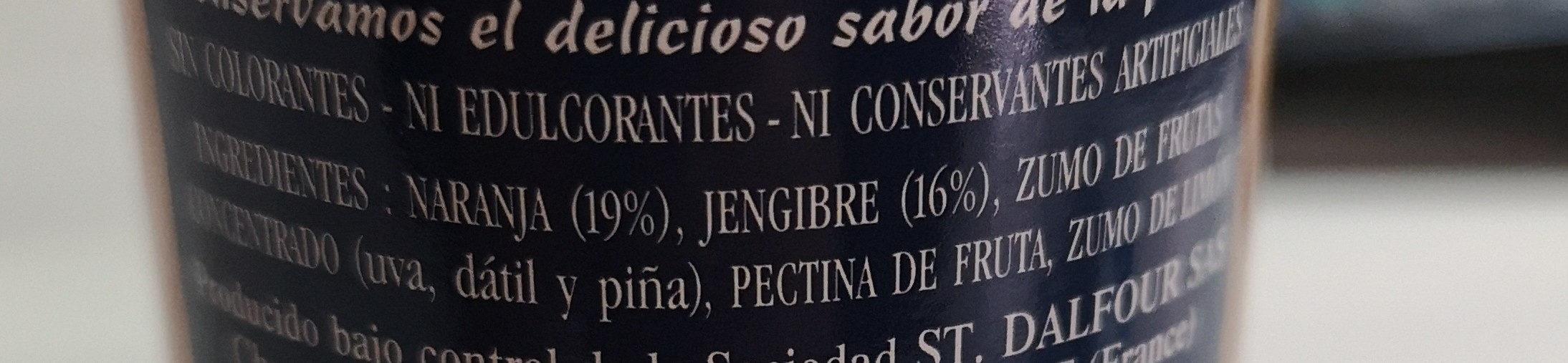 Rapsodia de frutas jengibre y naranja - Ingredients