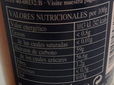 Rapsodia de fruta Jengibre y Naranja - Nutrition facts