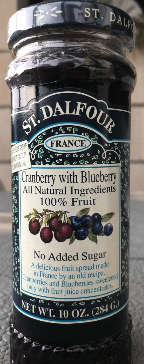 St. Dalfour, Fruit Spread, Cranberry With Blueberry - Product - en