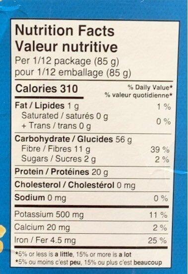 More than Pasta - Informations nutritionnelles - en