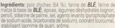 Knorr, falafel mix - Ingredients - en