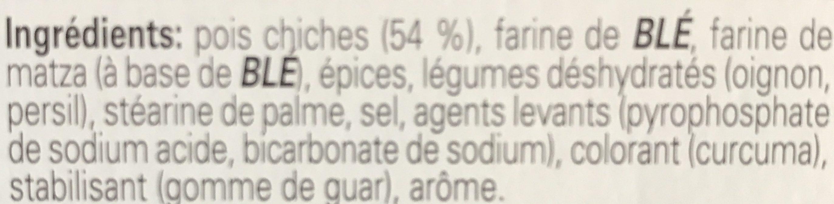 Falafel 2 Sachets X2 Telma - Ingrédients