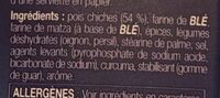Préparation Pour Falafel - Ingrediënten - fr