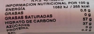 Tamarind - Información nutricional - es