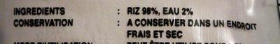 Farine de Riz - Ingrédients - fr