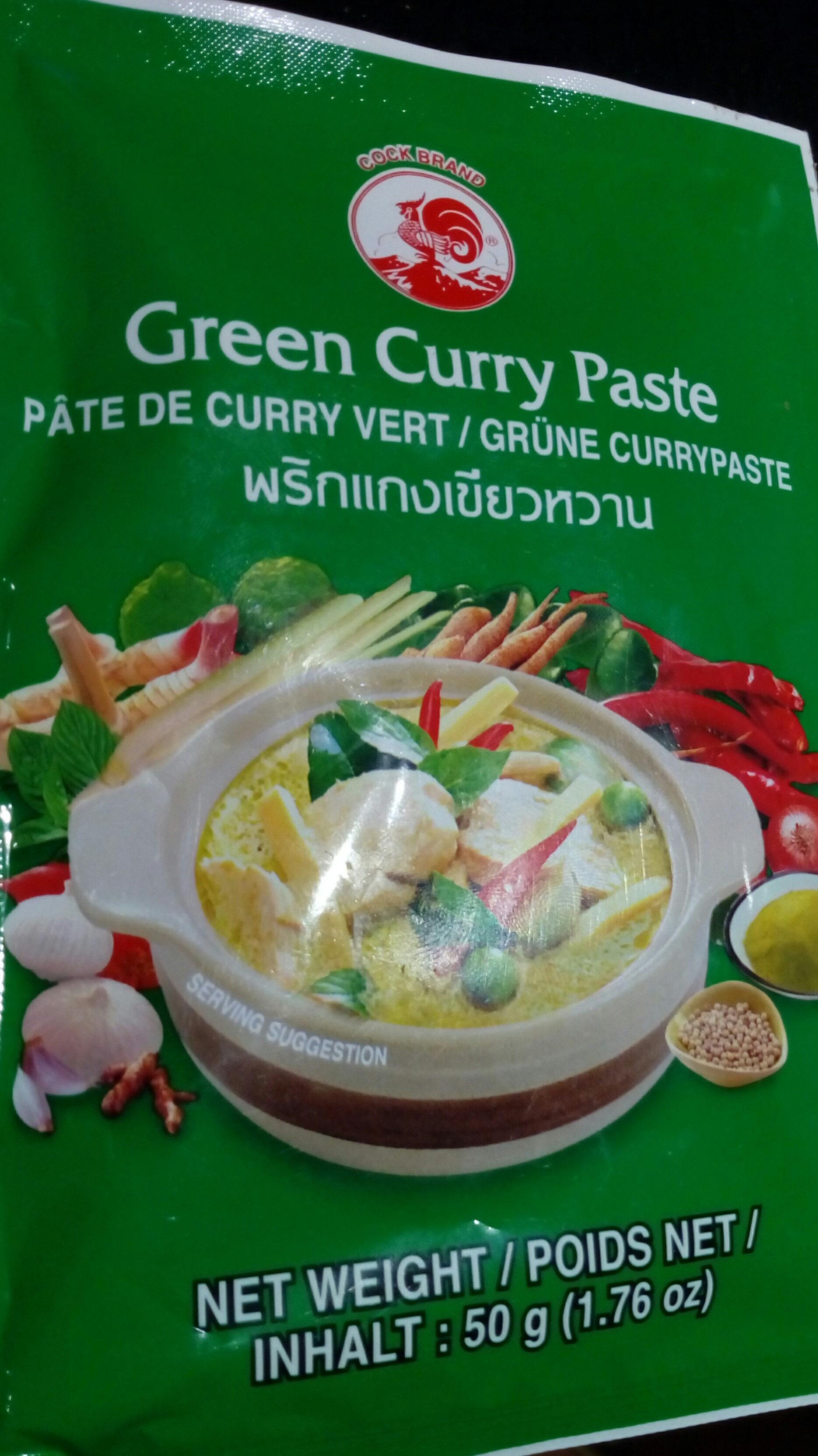 2 x 50 g Thai Grüne Currypaste Cock = Green Curry Paste - Produit - fr