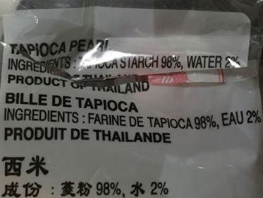 Bille de Tapioca - Ingrediënten - fr