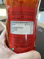 Süsse Chillisauce - Voedingswaarden - fr