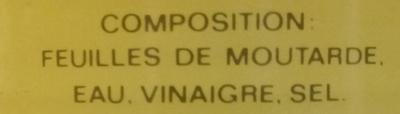 Feuilles de moutarde au vinaigre - Ingrediënten - fr