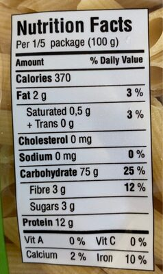 Garofalo - Informations nutritionnelles - fr