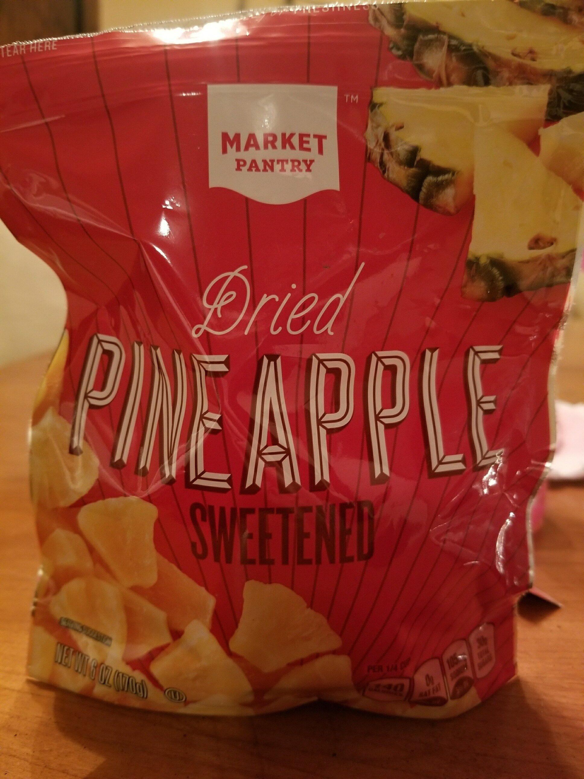 Sweetened dried pineapple - Product - en