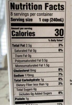 Good & gather unsweetened original almondmilk - Nutrition facts - en