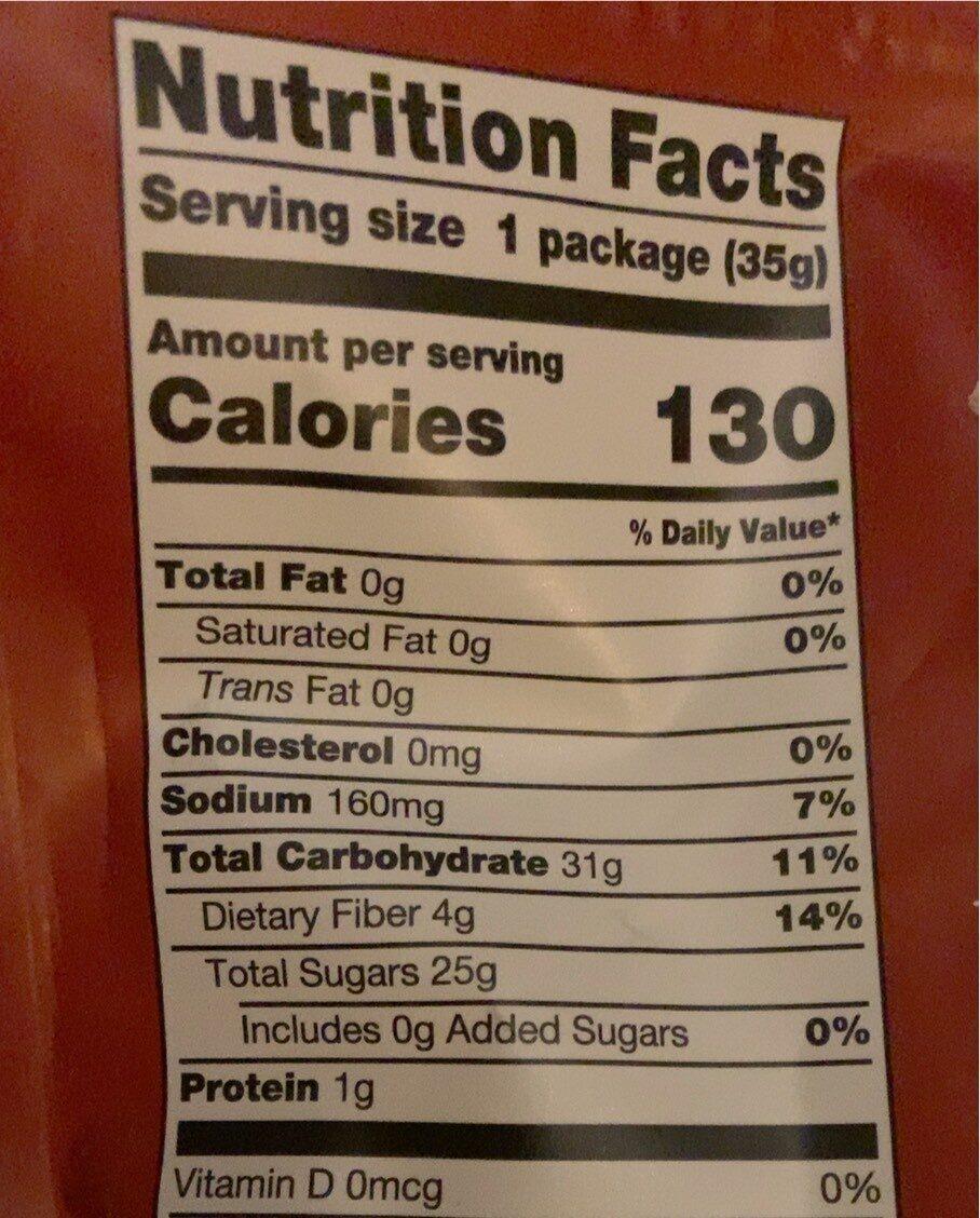 Freeze dried cinnamon apple - Valori nutrizionali - en