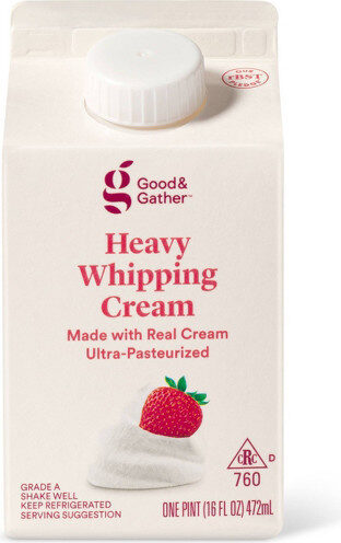 Good & gather heavy whipping cream - Product - en