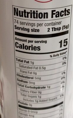 Extra creamy whipped topping - Nutrition facts - en