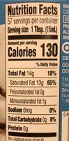 Organic Unrefined Virgin Coconut Oil - Nutrition facts - en