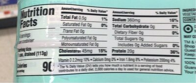 chuck light tuna - Nutrition facts - en