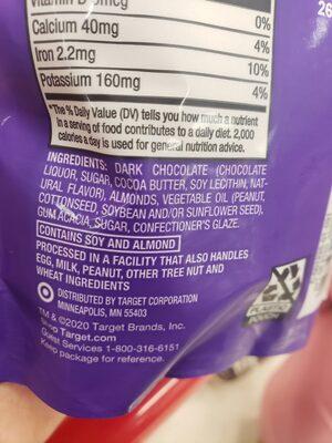 Dark Chocolate Almonds - Ingredients - en