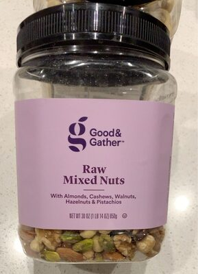 Raw mixed nuts - Product - en