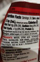 Liquid Water Enhancer - Nutrition facts