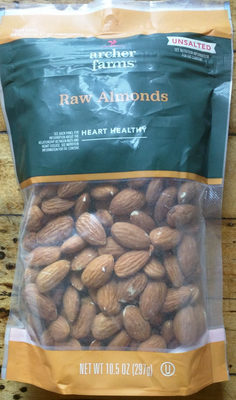 Unsalted raw almonds, unsalted - Product - en