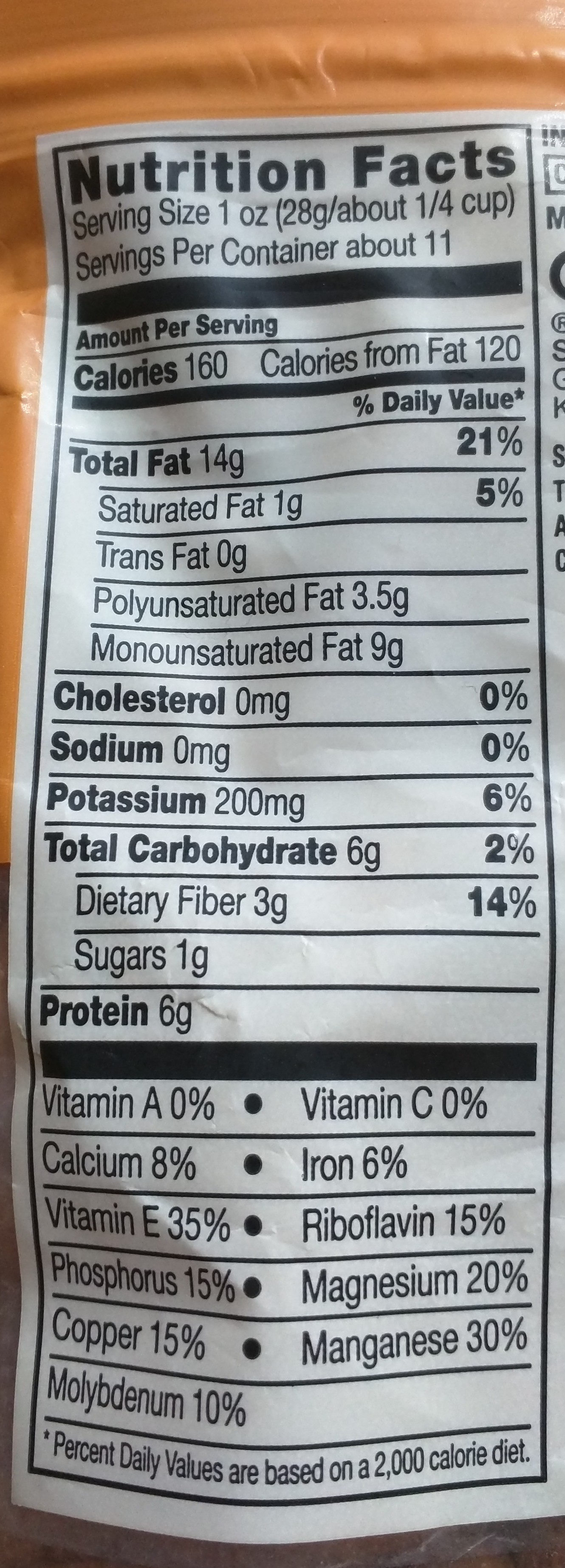 Unsalted raw almonds, unsalted - Nutrition facts - en