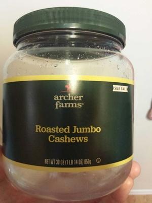 Sea salt roasted jumbo cashews - Product