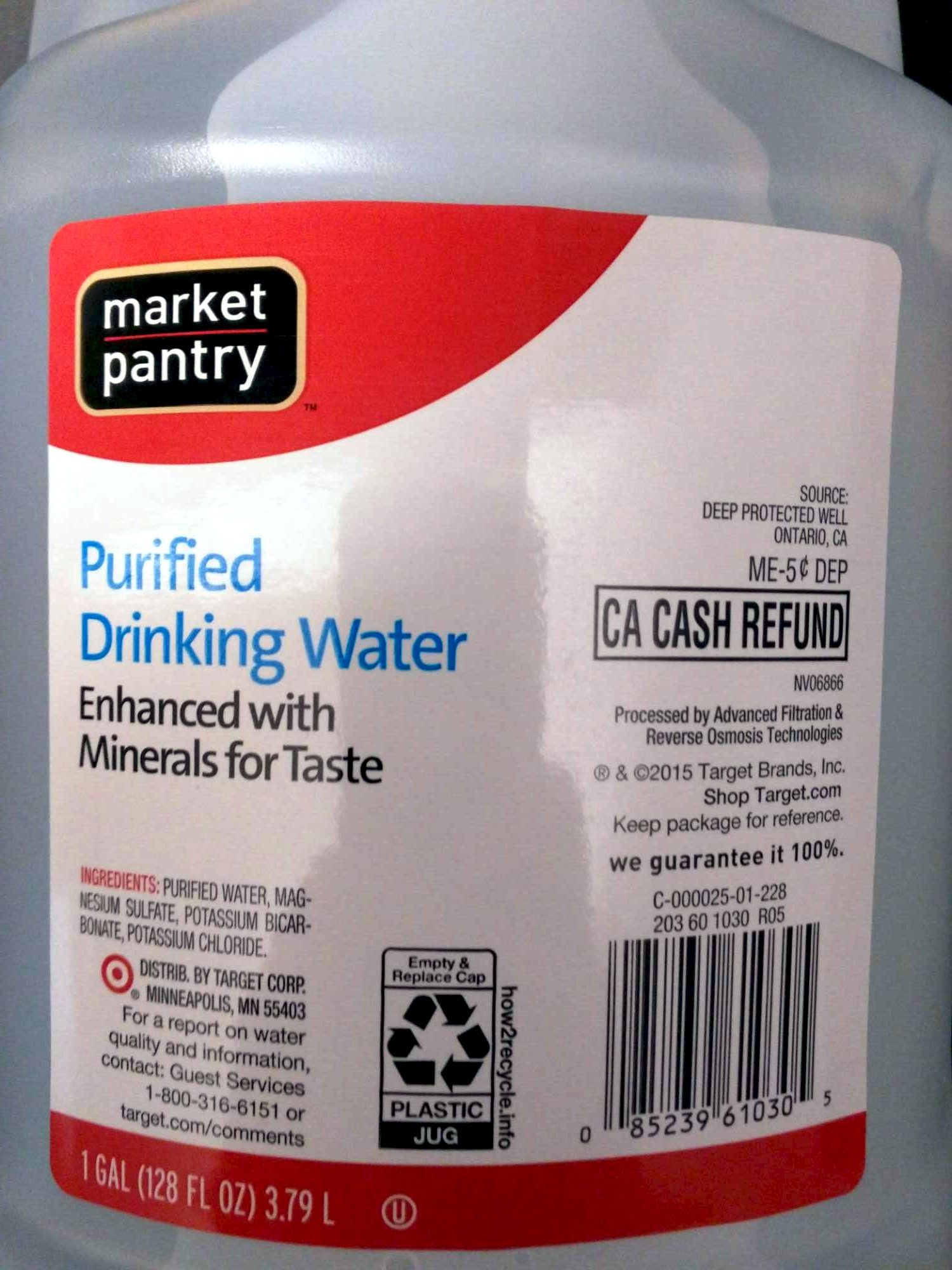 Purified Drinking Water - Produit - en