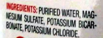 Purified Drinking Water - Ingrédients - en