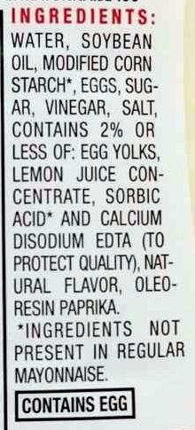 Light mayonnaise - Ingrediënten - en